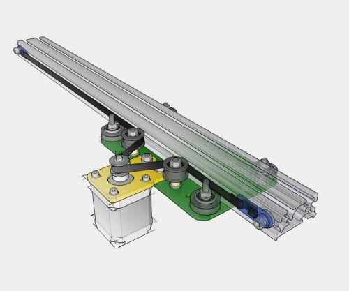Makerslide camera slider mechanical kit amber spyglass ltd for Stepper motor camera slider